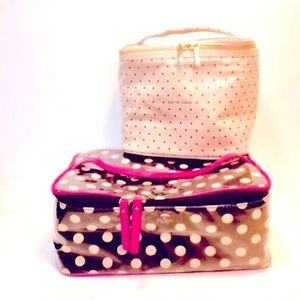 Set of Two Kate Spade Toiletry Travel Cosmetic Cases